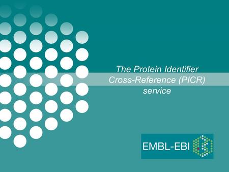 The Protein Identifier Cross-Reference (PICR) service.