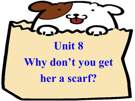 Unit 8 Why don't you get her a scarf? Section B Section B.