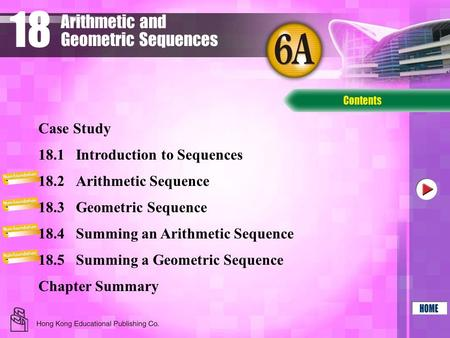 18 Arithmetic and Geometric Sequences Case Study
