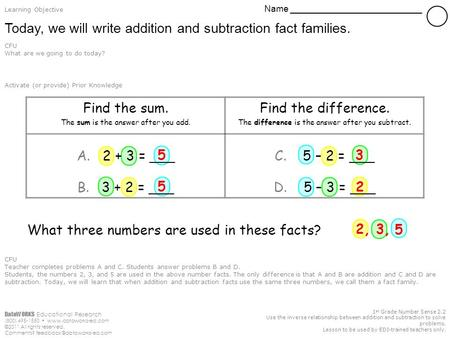 DataWORKS Educational Research (800) 495-1550  ©2011 All rights reserved. Comments? 1 st Grade Number Sense.