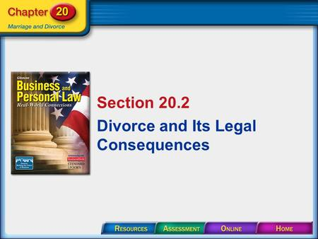 Section 20.2 Divorce and Its Legal Consequences. Section 20.2 Divorce and Its Legal Consequences A divorce is a legal declaration by a court that a marriage.