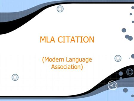 MLA CITATION (Modern Language Association). Parenthetical References citation in the essay that refers to a quote or paraphrase Include author's last.