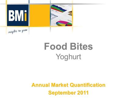Food Bites Yoghurt Annual Market Quantification September 2011.
