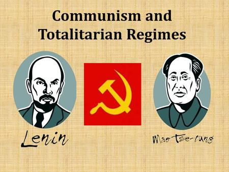 Communism and Totalitarian Regimes. China in the 1900's China was ready for Revolution. 1)Foreign Influence controlled trade and economic resources 2)