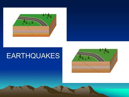 EARTHQUAKES. What is an Earthquake? Sudden movement in the earth's crust which releases energy Movement occurs along areas of weakness in the earth's.