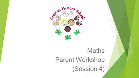 Maths Parent Workshop (Session 4). Aims of the Workshops To raise standards in maths by working closely with parents. To provide parents with a clear.