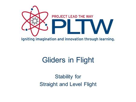 Gliders in Flight Stability for Straight and Level Flight.