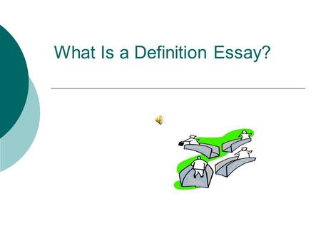 explain definition essay