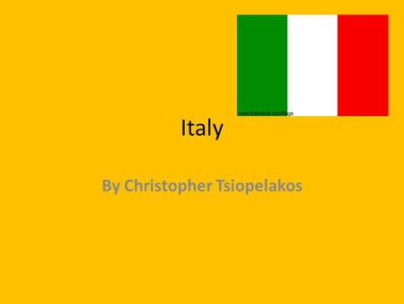 Italy By Christopher Tsiopelakos. Interesting facts about Italy Rome is the capital city of Italy. The total population of Italy is 58,103,033 Rome is.