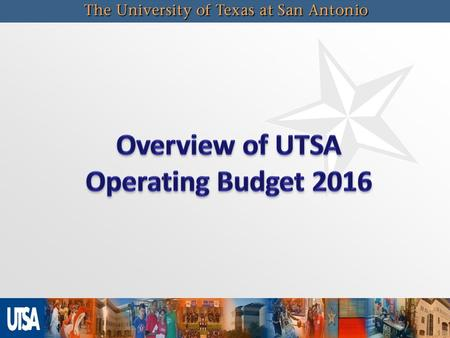 Operating Budget Funding Sources State Appropriations - General Revenue Formula Funding, Special Items, Benefit Cost Sharing THECB Transfers TX Grant,