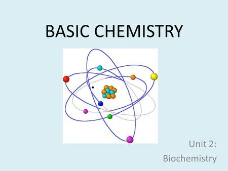 BASIC CHEMISTRY Unit 2: Biochemistry. What are buildings made of?