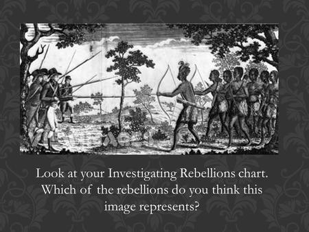 Look at your Investigating Rebellions chart. Which of the rebellions do you think this image represents?