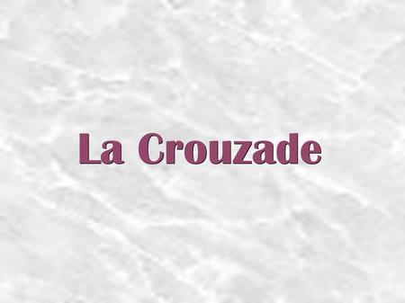 La Crouzade. We are going to present you our traditionnal dance, which is La Crouzade. It is a bourée d'Auvergne, which comes from the Massif Central.