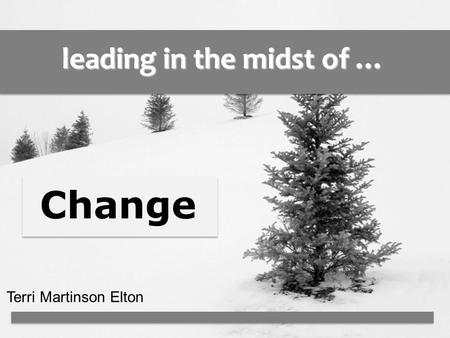 Leading in the midst of … Terri Martinson Elton Change.