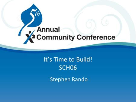 It's Time to Build! SCH06 Stephen Rando. Agenda Schedule build process Room management Validating Running/analyzing the build Running/analyzing the load.