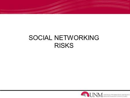 SOCIAL NETWORKING RISKS. What Are Social Networks? Myspace Youtube Facebook JULIA ADAMS: