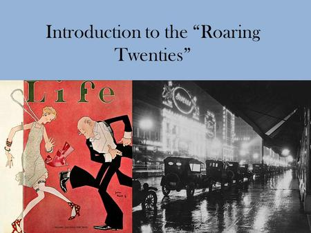 an introduction to the roaring twenties a time of injustice Free essays & term papers - the roaring twenties a time of injustice, social issues.