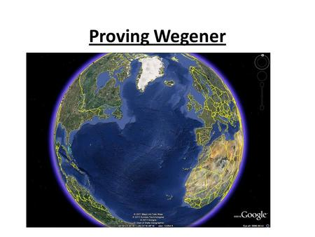 Proving Wegener. Mid Ocean Ridge The Mid-Atlantic Ridge is part of under-seas Mountain Range known as Mid-Ocean Ridge The rocks found on Continents are.