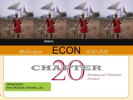 1 ECON Designed by Amy McGuire, B-books, Ltd. McEachern 2010-2011 20 CHAPTER Developing and Transitional Economies Macro.