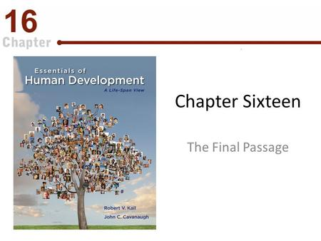 Chapter Sixteen The Final Passage. Introduction Why is it so difficult to contemplate our death? What is the grief process like? How do people in different.