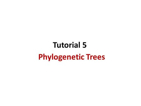 Phylogenetic Trees Tutorial 5. Agenda How to construct a tree using Neighbor Joining algorithm Phylogeny.fr tool Cool story of the day: Horizontal gene.