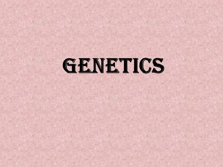 Genetics. Genetics is the study and understanding of the phenomena of heredity and variation. Bateson first coined the term «genetics» in 1906. In Latin,