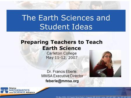 The Earth Sciences and Student Ideas