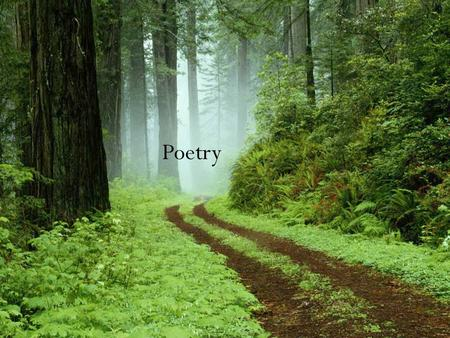 "Poetry. Before we begin…Define ""Poetry"" Bing Dictionary: literature in verse-- literary works written in verse, in particular verse writing of high quality,"