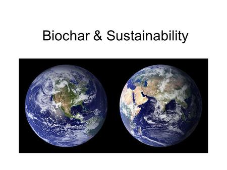 Biochar & Sustainability. We are all one, a universal community. We as a group, in this room, right now, are all living this moment together. We are existing.