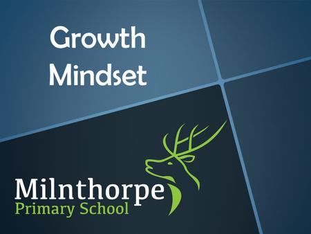 Growth Mindset. Why Growth Mindset? When students and teachers have a growth mindset, they understand that intelligence can be developed. Students focus.