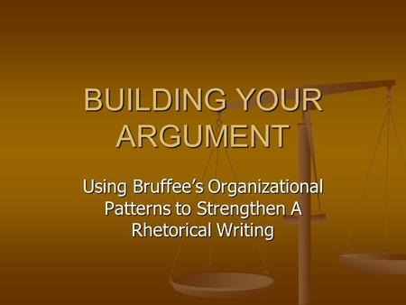 what organizational pattern is used when writing the narrative essay It's the same with writing with any given group of ideas and details, you might use any of a number of principles of organization, and any one of them would help you and your reader.