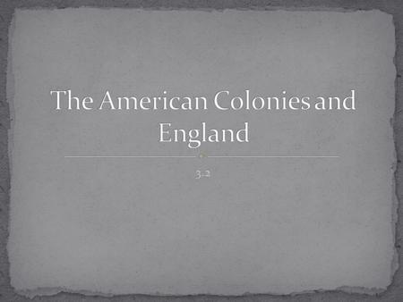 3.2. Explore how English traditions influenced the development of colonial governments. Analyze the economic relationship between England and its colonies.
