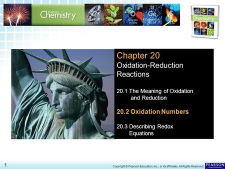 Chapter 20 Oxidation-Reduction Reactions 20.2 Oxidation Numbers