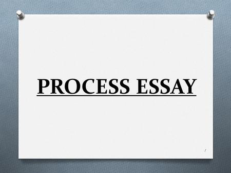 Brief explanation essay