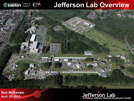 Jefferson Lab Overview Bob McKeown April 20, 2015.