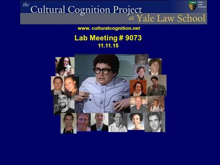 Www. culturalcognition.net Lab Meeting # 9073 11.11.15.
