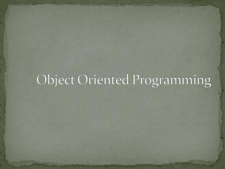 "Developed at Sun Microsystems in 1991 James Gosling, initially named ""OAK"" Formally announced java in 1995 Object oriented and cant write procedural."