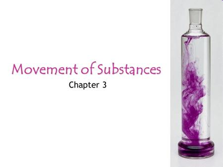 Movement of Substances Chapter 3. Movement of SubstancesDiffusionOsmosisActive Transport Learning Objectives... DIFFUSION define diffusion discuss its.