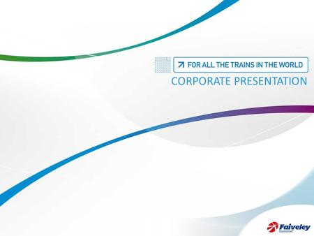 CORPORATE PRESENTATION. +++++++++ +++++++++ +++++++++ LARGEST RANGE OF PRODUCTS ON THE MARKET 2.