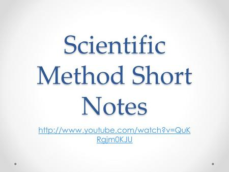 Scientific Method Short Notes  Rgjm0KJU.
