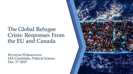 The Global Refugee Crisis: Responses From the EU and Canada