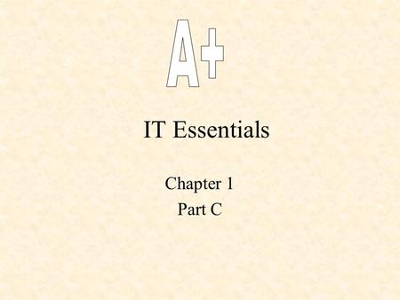 IT Essentials Chapter 1 Part C. 1.5 Math for a Digital Age.