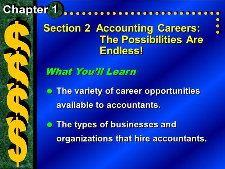Advancement Opportunities in Accounting