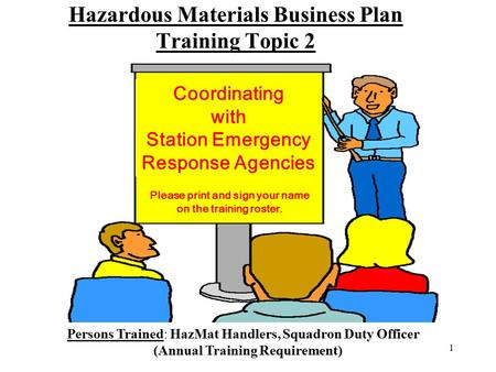 Hazardous Materials Business Plan Training Topic 2