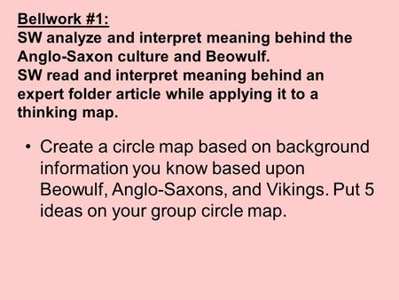 the portrayal of the anglo saxon culture in the tale of beowulf The women of beowulf print reference this  an epic tale of heroes and it also offers many insights into the world of the seventh-century anglo-saxon culture.