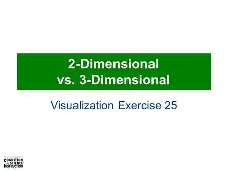 2-Dimensional vs. 3-Dimensional Visualization Exercise 25.