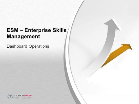 ESM – Enterprise Skills Management Dashboard Operations.