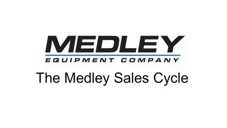 "The Medley Sales Cycle. Login Page From ""Home"" click the Dashboards Tab."