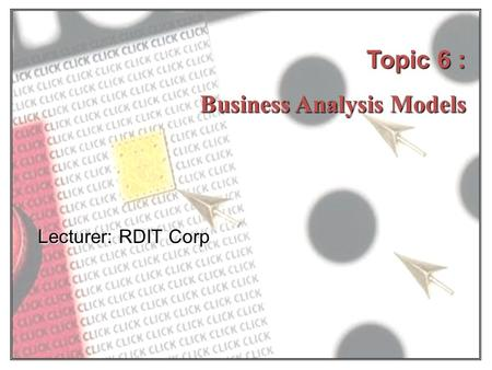 Business Analysis Models