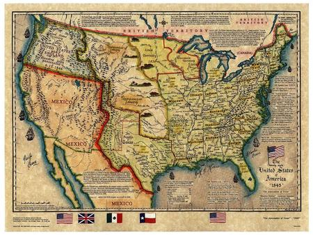 Tensions between the United States and Mexico In March 1845, James K. Polk became president. He wanted the nation to acquire the land between Texas and.